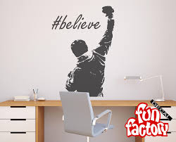 Rocky Inspirational Believe Wall Decal Sticker Rocky Balboa Decor Art Poster 0065s By Fundecalfactory On Etsy Wall Decal Sticker Wall Decals Wall Stickers