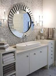 chrome bathroom mirror ideas round