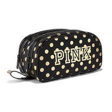 double zip makeup bag pink victoria