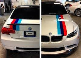 Product M Colors Stripes Rally Hood Trunk Racing Motorsport Vinyl Decal Sticker For Bmw
