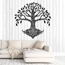 Vinyl Wall Decal Celtic Tree Pattern Ireland Irish Art Decor Stickers Wallstickers4you