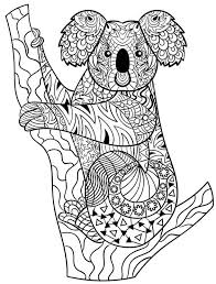 Koala Zentangle Animal Coloring Pages For Adults Coloring Cards