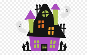 Haunted Clipart Fence Cute Halloween Haunted House Png Download 920331 Pinclipart