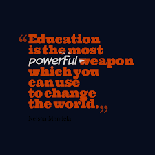 nelson mandela quote about education