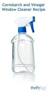 cornstarch and vinegar window cleaner