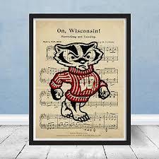 framed university of wisconsin badgers