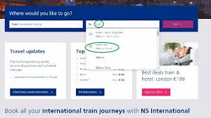 book tickets on the ns international