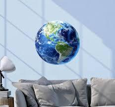 Earth Wall Decal Earth Decal Earth Decals Space Wall Etsy