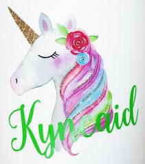 Monogram Unicorn Decals Violetfox