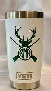 Hunting Monogram Vinyl Decal Deer Personalized Name For Your Cup Lowball Tumbler Home Garden Decor Decals Stickers Vinyl Art