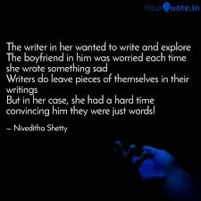 the writer in her wanted quotes writings by niveditha