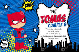 Kit Imprimible Spiderman Hombre Araa Cumpleaos Invitacin Tarjetas