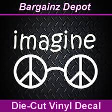 Vinyl Decal Imagine Peace Glasses John Lennon Beatles Car Laptop Sticker Ebay