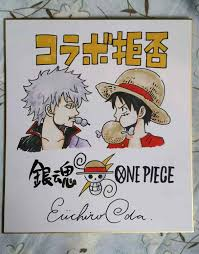 Dibujo A Mano Eiichiro Oda Una Pieza Autografiado Shikishi Tablero