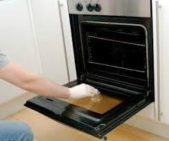 how to clean inside double glass oven