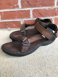 mens brown leather teva sandals size 12