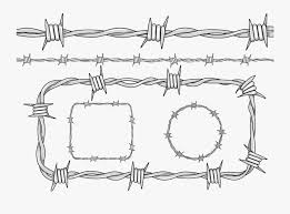 Clip Art Barbed Wire Drawing Barbed Wire Line Drawing Free Transparent Clipart Clipartkey