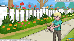 Shake A Stick At And White Picket Fence Background Clipart Cartoons By Vectortoons