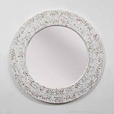 mother of pearl round mirror ca