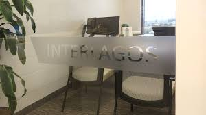 Office Window Decal With Cut Out Letters
