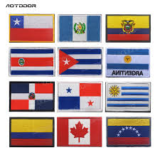 America Country Flags Costa Rica Chile Cuba Panama Uruguay Columbia Venezuela Dominican Patches Badges Stripes Stickers Patches Aliexpress