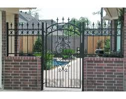 Modern Simple Wrought Iron Fence Gate Design Buy New Design Iron Gate Iron Pipe Gate Design Modern Gates And Fences Design Product On Alibaba Com
