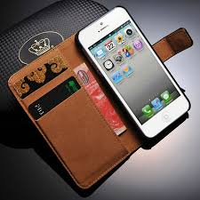real genuine leather wallet case for