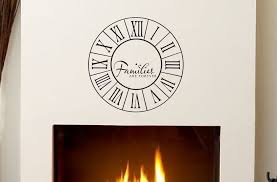 Families Are Forever Decal Home Decor Vinyl Wall Decals Clock Style Roman Numerals Family Wall Decal Wall Decor Family Decal