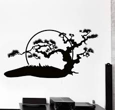 Wall Vinyl Decal Japan Japanese Oriental Sun Nature Home Interior Deco Wallstickers4you