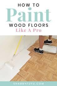 diy how to paint wood floors like a