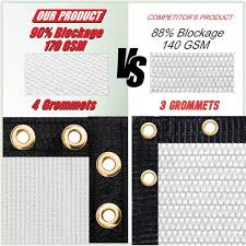 Colourtree 3 Ft X 10 Ft White Privacy Fence Screen Mesh Fabric Cover Windscreen With Reinforced Grommets For Garden Fence Tap0310 15 The Home Depot