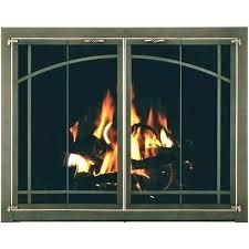 fireplace door replacement glass hide