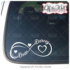 Personalized Names Infinityhearts Vinyl Decal Sticker For Cars Trucks Laptops Wall Stickers Handmade Products