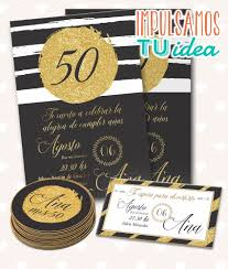 Invitacion Cumple 50 Tarjeta Cumple 40 Imprimible