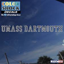 University Of Massachusetts Dartmouth License Plate Frames Car Decals And Stickers