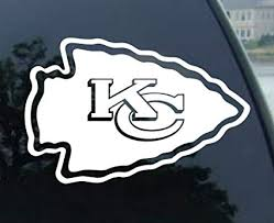 Amazon Com Wincraft Nfl Kansas City Chiefs 8x8 White Team Logo Decal Automotive