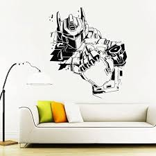 Transformers Wall Decal Prime Wall Sticker Bumblebee Wall Decal Kids Wall Sticker Bedroom Wall Sti Kids Wall Decals Wall Stickers Bedroom Nursery Wall Stickers