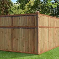Actual 6 Ft X 8 Ft Color Treated Stain Pressure Treated Pine Flat Top Wood Fence Panel Lowes Com In 2020 Outdoor Essentials Wood Fence Outdoor