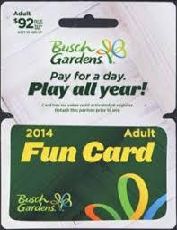 gift card fun card 2016 busch