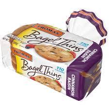 thomas cinnamon raisin bagel thins