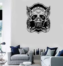 Wall Stickers Vinyl Decal Skull Scary Cool Gothic Decor Rock N Roll Un Wallstickers4you