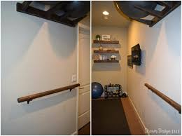 how to make a wall mounted ballet barre