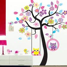 Shop Animals Tree Owl Removable Wall Decal Sticker Kid Baby Nursery Room Wall Vinyl Overstock 17998788