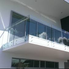 hand rail design for standoff glass railing