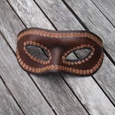 mask venetian style leather mask in