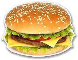 Amazon Com Decal Flags Usa Cheeseburger Burger 4 Wide Sticker Sticker Sticker Graphic For Cars Windows Trucks Bumpers Etc Automotive