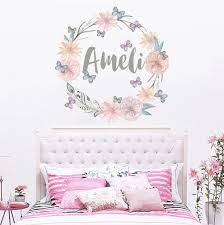 Personalized Name Wall Decal Rustic Nursery Decal Girls Name Etsy Nursery Decals Girl Nursery Decals Name Wall Decals