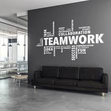Teamwork Wall Decal Teamwork Decal Office Wall Art Office Etsy Office Wall Design Office Wall Decals Office Wall Graphics