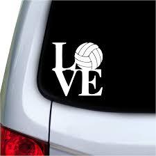 Amazon Com Love Volleyball Text Vinyl Car Sticker Symbol Silhouette Keypad Track Pad Decal Laptop Skin Ipad Macbook Window Truck Motorcycle Automotive