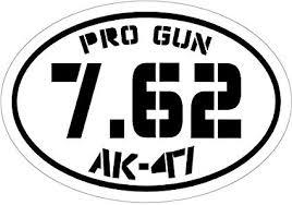 Amazon Com Wickedgoodz Black 7 62 Pro Gun Ak47 Vinyl Decal 2nd Amendment Bumper Sticker Perfect Gun Rights Gift Sports Outdoors